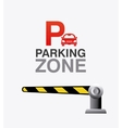 Parking zone graphic vector image