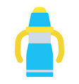sippy cup flat icon baby cup and bottle vector image