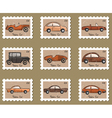 Stamp retro cars collection vector image