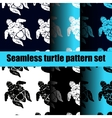 turtle pattern set vector image