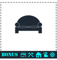 Bed icon flat vector image