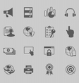 web technology icon set vector image