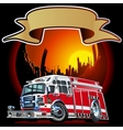 Cartoon Fire Truck vector image vector image