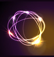 glowing neon abstract circles shiny background vector image