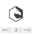 stylized white horse head for logo template vector image vector image