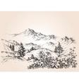 Mountains landscape sketch vector image vector image