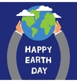 Earth Day globe in the hands of vector image