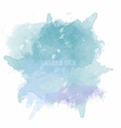 Blue watercolor stain on white background vector image