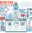 Infographics elements concept of Digital Market vector image vector image