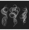 Translucent gray smoke vector image