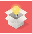 Lightbulb in box vector image