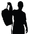 man silhouette recreation vector image