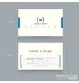 Minimal clean design business card Template vector image