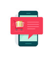 notification on mobile phone new online order vector image