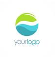 water eco round logo vector image