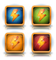 shield icons with lightning bolts for game ui vector image