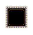 frame with patterns vector image