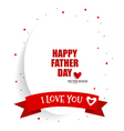Happy fathers day card design with red ribbon vector image vector image