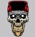 skull bandana caps gradient vector image