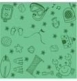 Summer vacation holiday doodle art vector image