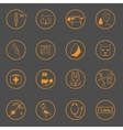 Set of simple vet icons vector image