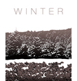 A winter landscape in sepia tones vector image