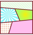 Pop art frame comics background page template vector image