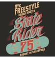 Skateboard graphic design for tee vector image