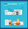 Finance consulting management and development vector image