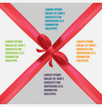 red ribbon info graphic template background vector image vector image