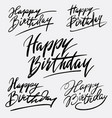 happy birthday hand written typography vector image vector image