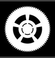 car wheel the white color icon vector image