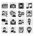 social network set vector image