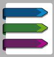 striped arrow ribbon signs vector image
