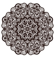 Hand drawn abstract ornamental round lace doily vector image vector image