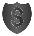 Paid Shield Gradient Icon vector image