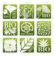 Bio product labels stikers and badges vector image