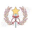cute wand star ribbon accessory for princess vector image