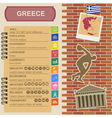 Greece infographics statistical data sights vector image