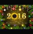 happy new year for 2016 background vector image