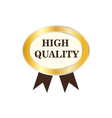 High quality golden label icon vector image