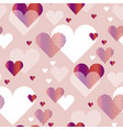 pale rosy color love heart concept for backdrop vector image