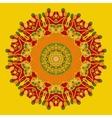 Yoga Mandala Background for greeting card vector image