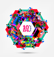 Squared Colorful Abstract Background vector image