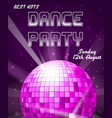 dance disco party holiday event background vector image