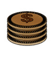 isolated gold coins vector image