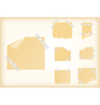 Yellow stickers with scotch tape vector image