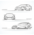 Set of modern car silhouettes vector image