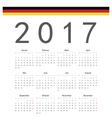 German square calendar 2017 vector image