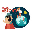 calls abroad composition vector image